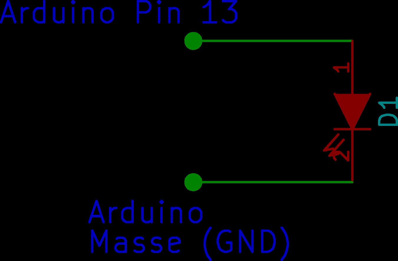 Schaltbild Arduino mit LED