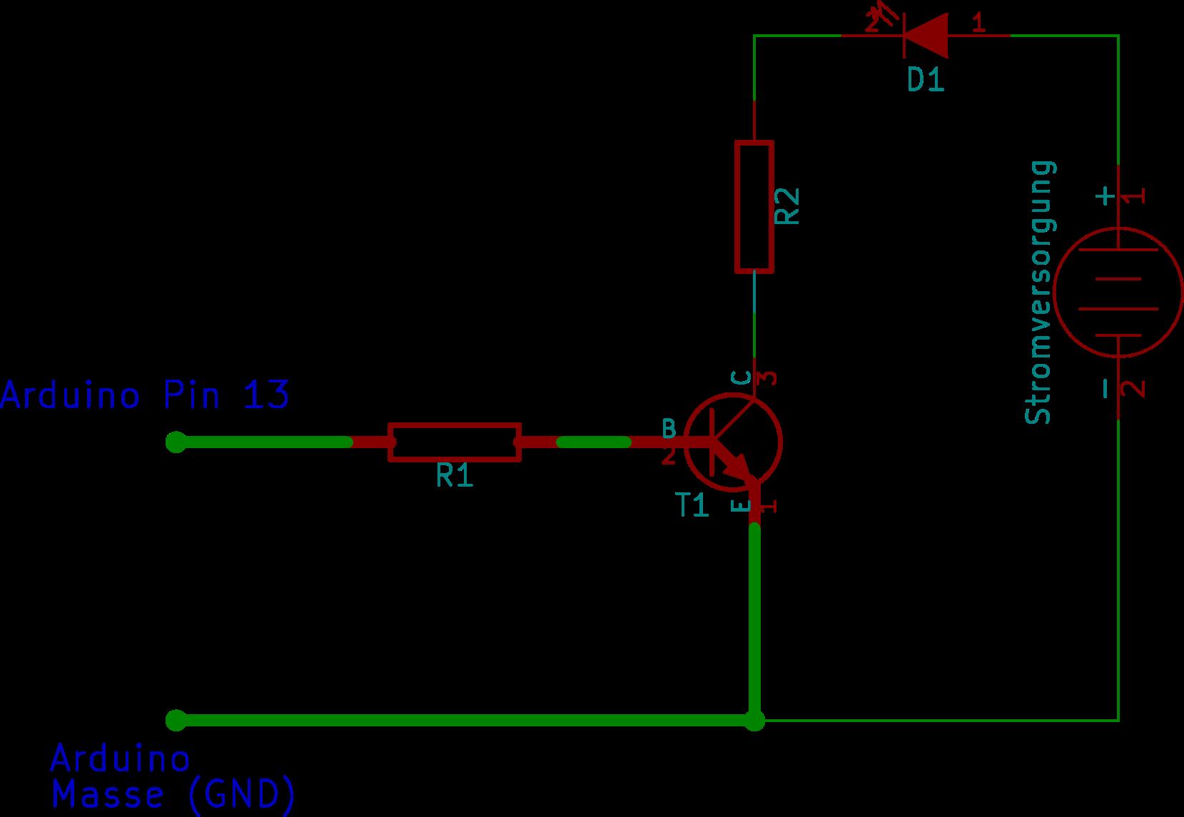 Arduino mit Transistorschalter 1