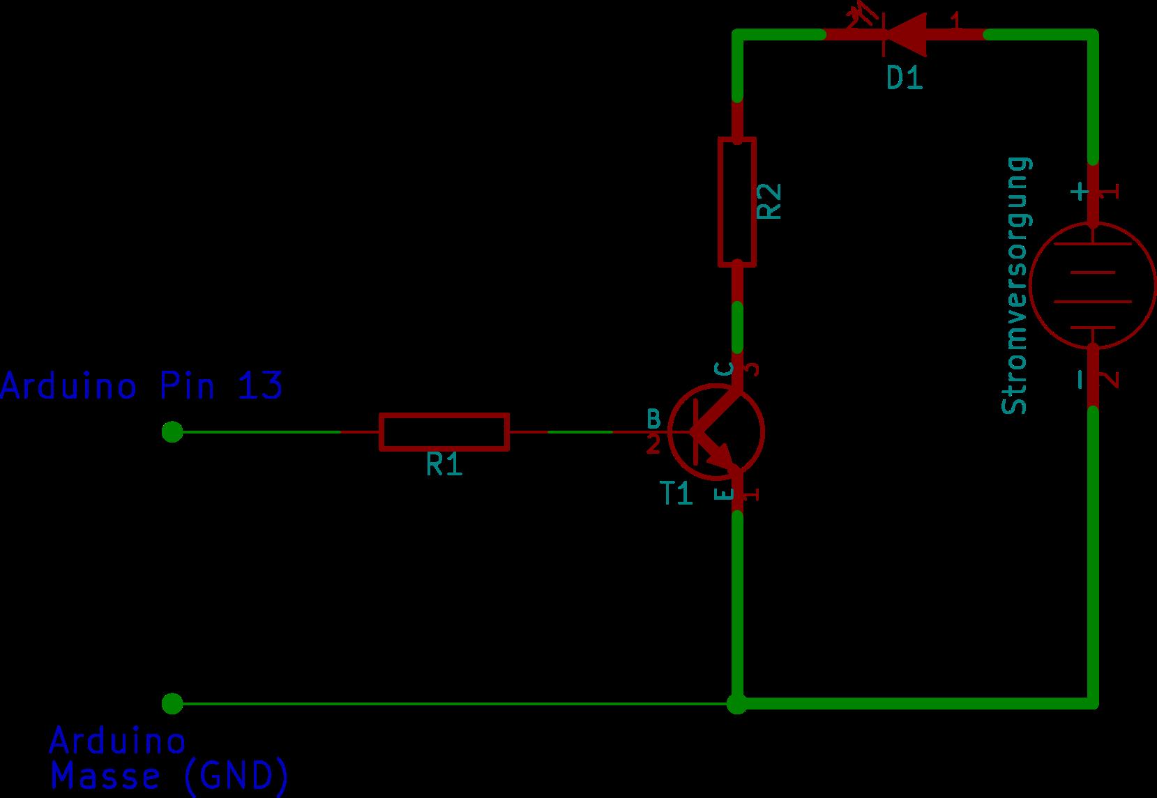 Arduino mit Transistorschalter 2