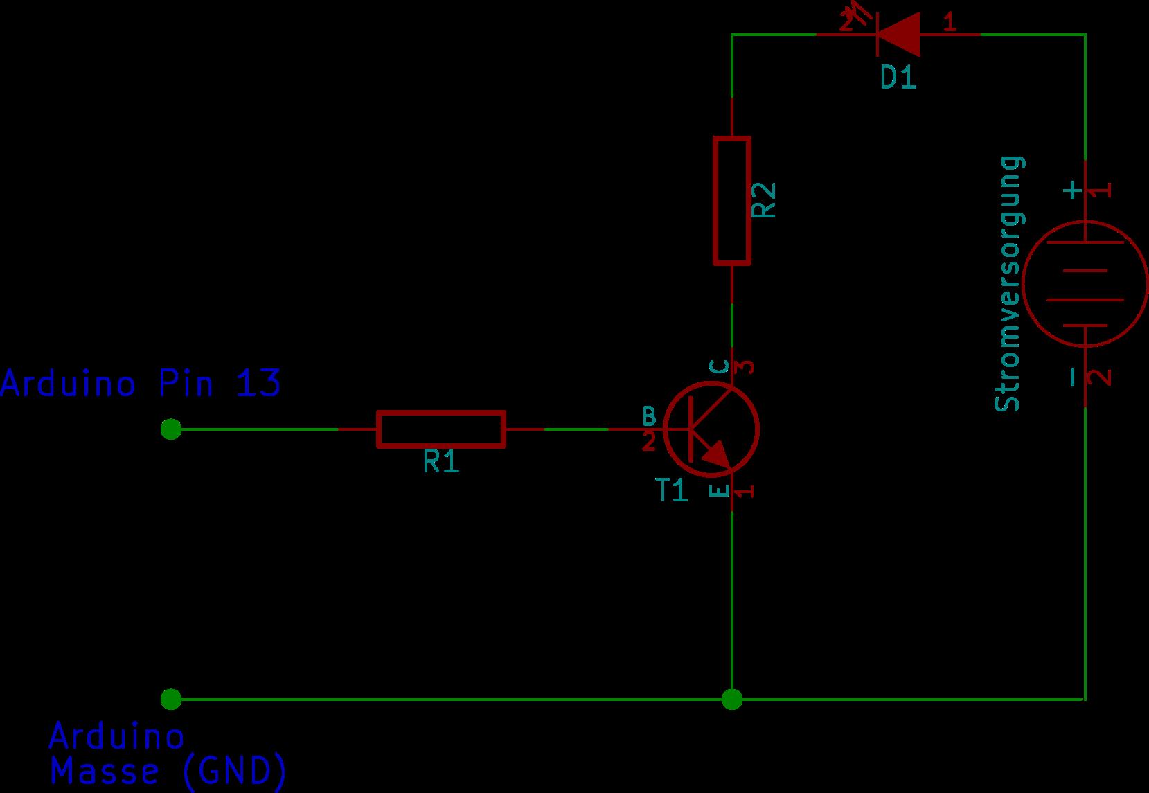 Arduino mit Transistorschalter 3