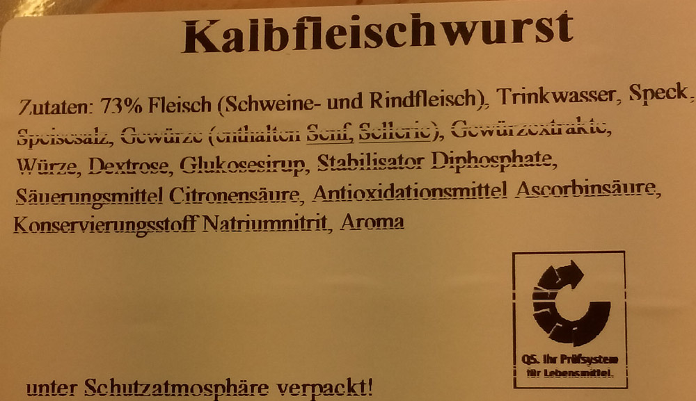 Birkenhof Kalbfleischwurst hinten
