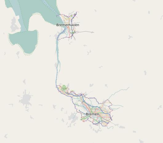 Openstreetmap Karte nur mit Bundesland Bremen
